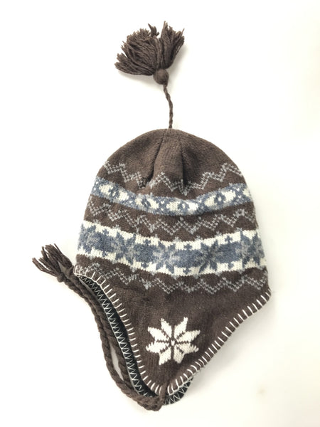 Unbranded Accessories, Women's Brown And White Knit Hat - Size: One Size (Regular)