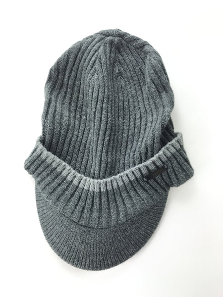 Unbranded Accessories, Women's Grey Knited Cap - Size: One Size (Regular)