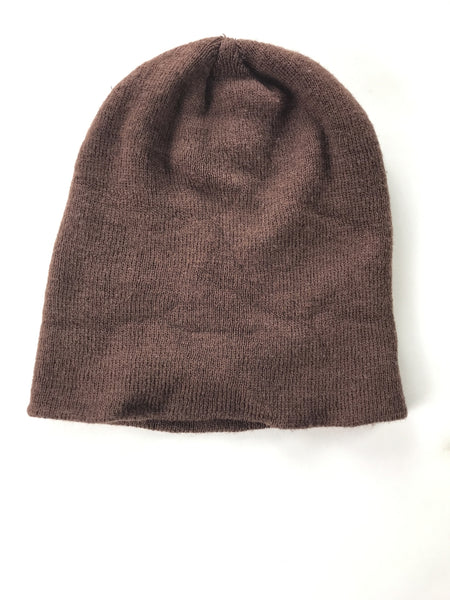 Unbranded Accessories, Women's Brown Knitted Beanie Hat - Size: One Size (Regular)