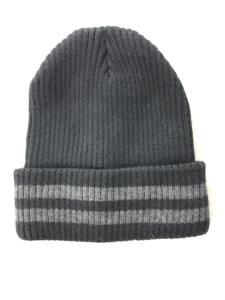 Unbranded Accessories, Women's Black And Gray Knit Beanie Cap - Size: One Size (Regular)