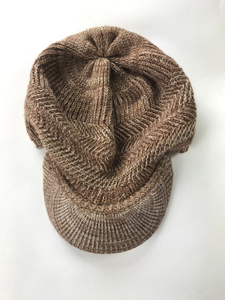 Unbranded Accessories, Women's Brown Knitted Beret Hat - Size: One Size (Regular)