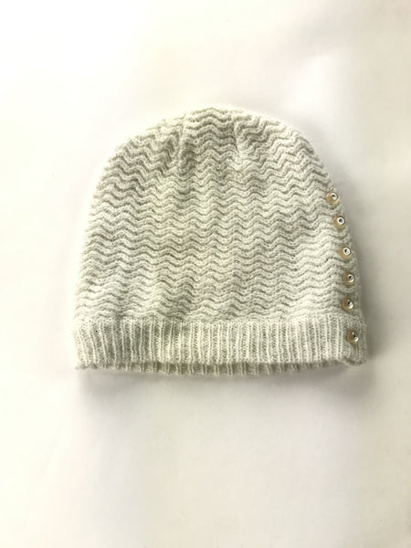 Unbranded Accessories, Women's Beige Knitted Beanie Hat - Size: One Size (Regular)