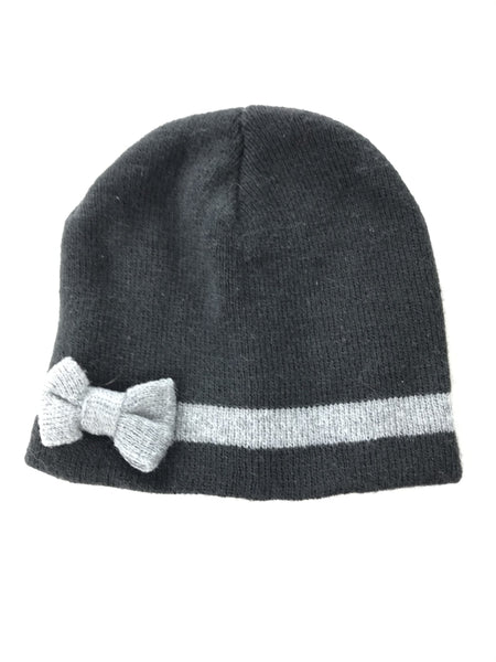 Unbranded Accessories, Women's Black And Gray Knitted Beanie Cap - Size: One Size (Regular)