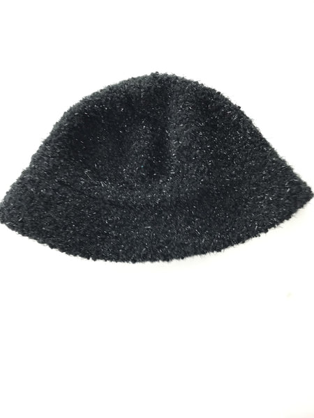Unbranded Accessories, Women's Knitted Black Cloche Hat - Size: One Size (Regular)