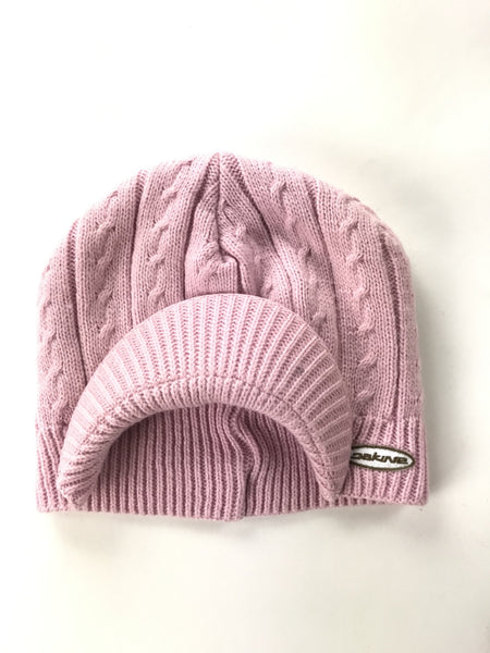 Unbranded Accessories, Women's Pink Cable Knitted Cap - Size: One Size (Regular)