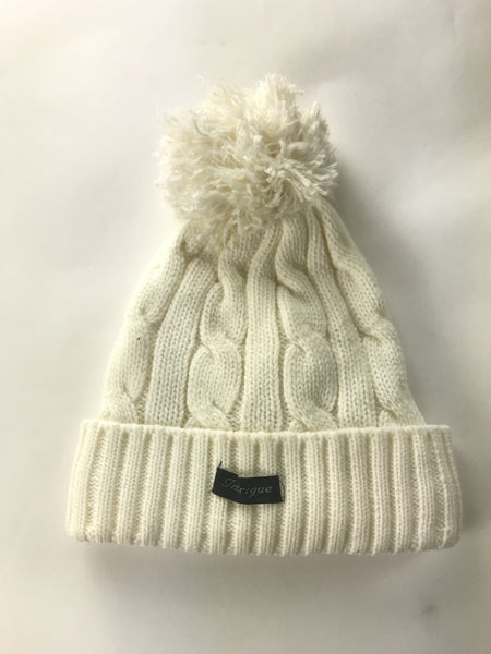 Unbranded Accessories, Women's White Bobble Beanie - Size: One Size (Regular)
