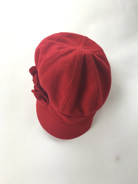 Unbranded Accessories, Women's Red Beret Hat - Size: One Size (Regular)