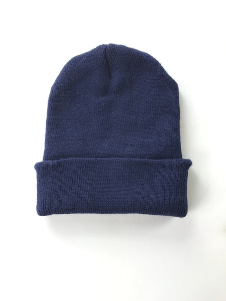 Unbranded Accessories, Women's Blue Knitted Beanie Cap - Size: One Size (Regular)