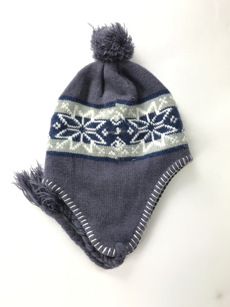 Unbranded Accessories, Women's Gray And White Knitted Hat - Size: One Size (Regular)