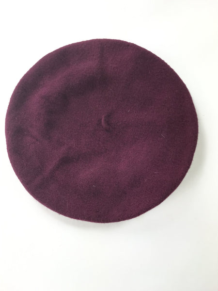 Express, Women's Maroon Beret Hat - Size: One Size (Regular)