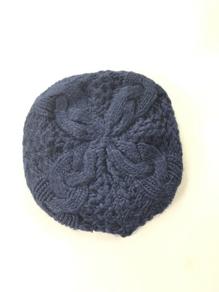 Unbranded Accessories, Women's Black Knitted Beret Hat - Size: One Size (Regular)