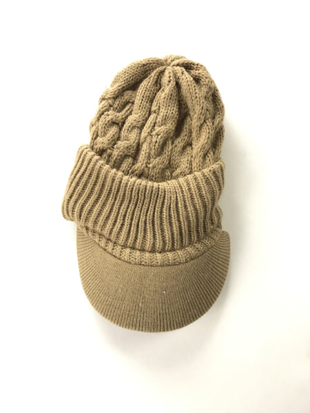 Unbranded Accessories, Women's Brown Beanie Hat - Size: One Size (Regular)