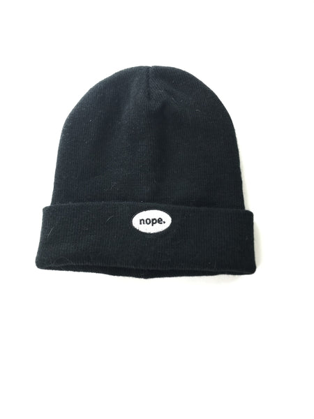 Unbranded Accessories, Women's Black Beanie Knitted Cap - Size: One Size (Regular)