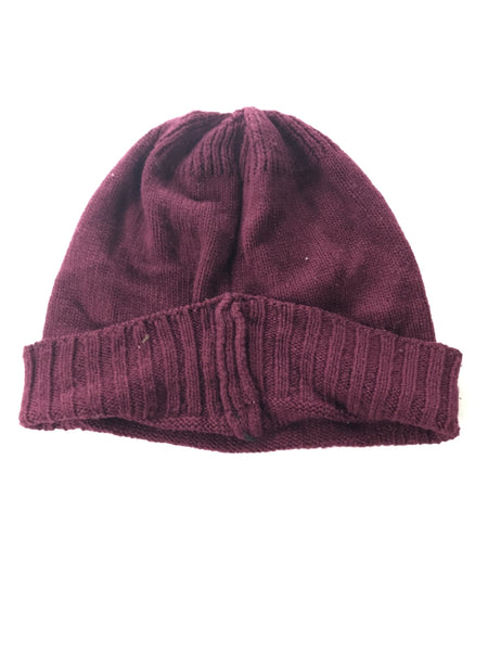 Unbranded Accessories, Women's Purple Knitted Beanie Hat - Size: One Size (Regular)