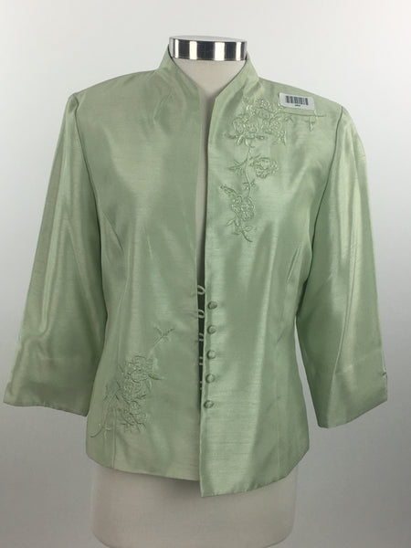 Jessica Howard, Women's Green Floral Coat - Size: 12 (Regular)