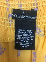Moda International, Women's Yellow V-neck Mini Dress - Size: M (Regular)