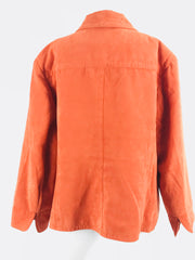 DressBarn, Women's Orange 2-buttoned Coat - Size: 18 (Regular)