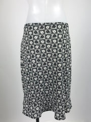 Ann Klein, Women's Black And White Floral Skirt - Size: L (Regular)