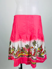 Old Navy, Women's Pink And White Skirt - Size: 12 (Regular)