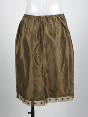 Unbranded, Women's Brown Skirt - Size: 10 (Regular)