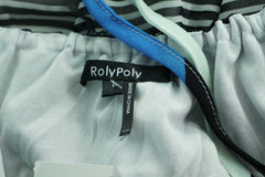 Roly Poly, Women's Blue, White, And Black Stripe  Dress - Size: L (Regular)