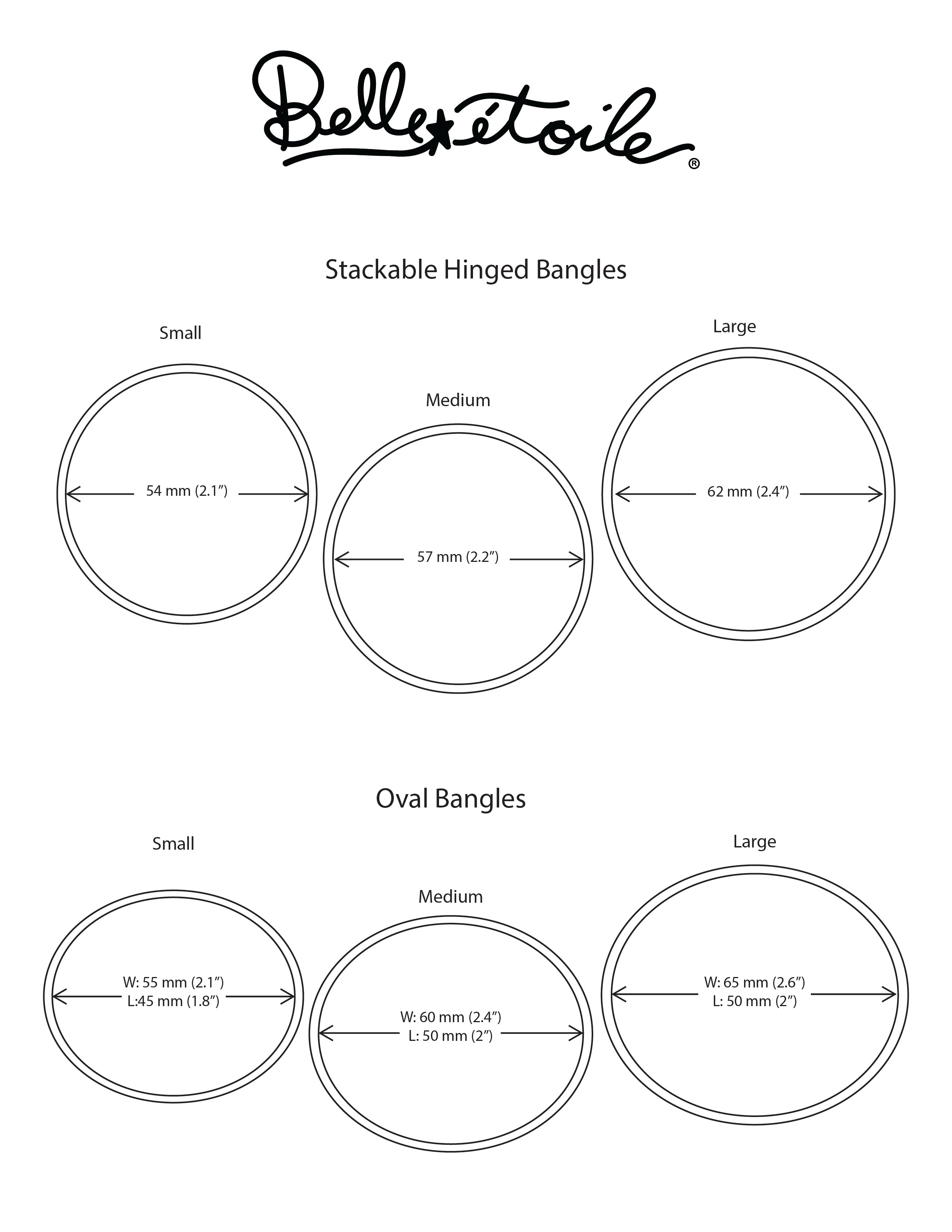 Size Guide Belle Etoile Jewelry