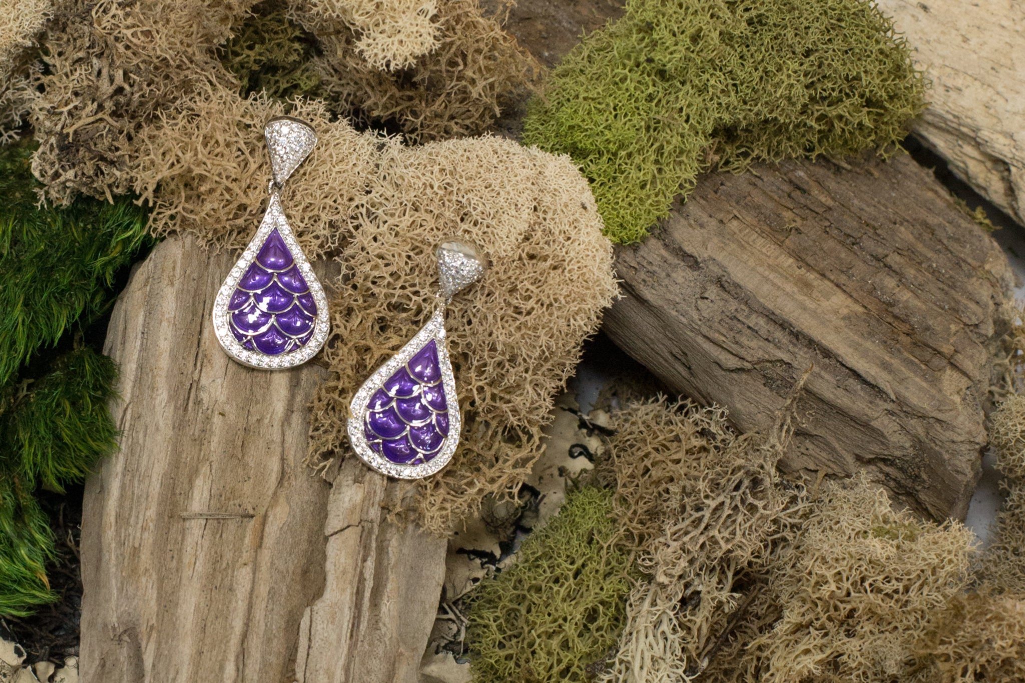 Marina Purple Earrings