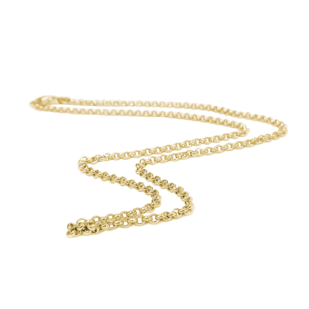 24K Yellow Gold Vermeil Thin Rolo Chain
