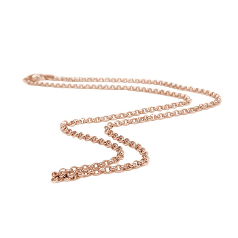 18K Rose-Gold Vermeil Thin Rolo Chain