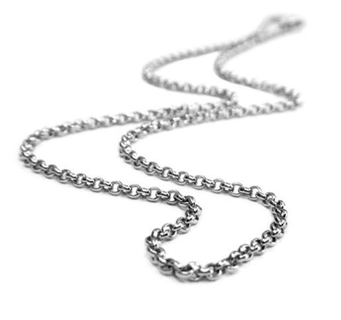Sterling Silver Chain - Thick Rolo