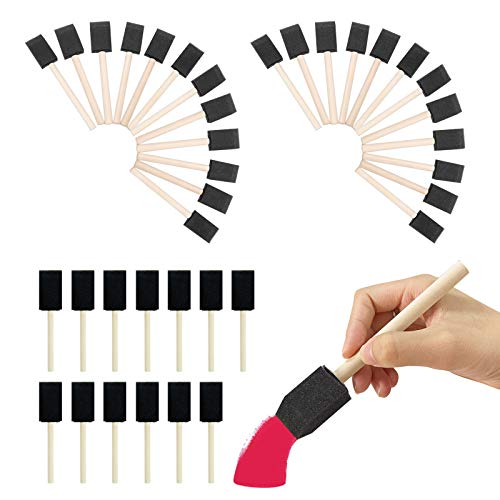 60PCS Foam Paint Brush, 1 inch Foam Brush Painting Set, for Art and Craft