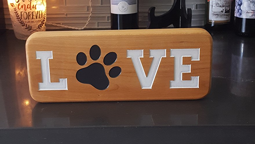 "Pawprint ""Love"" Plaque"