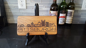 Engraved City Skyline Decor