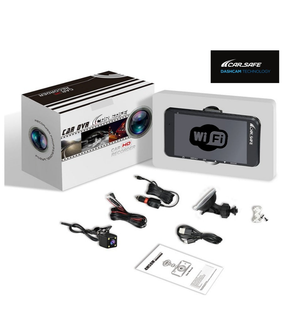 CS4KW - Front + Rear DashCam + WiFi + SuperHD