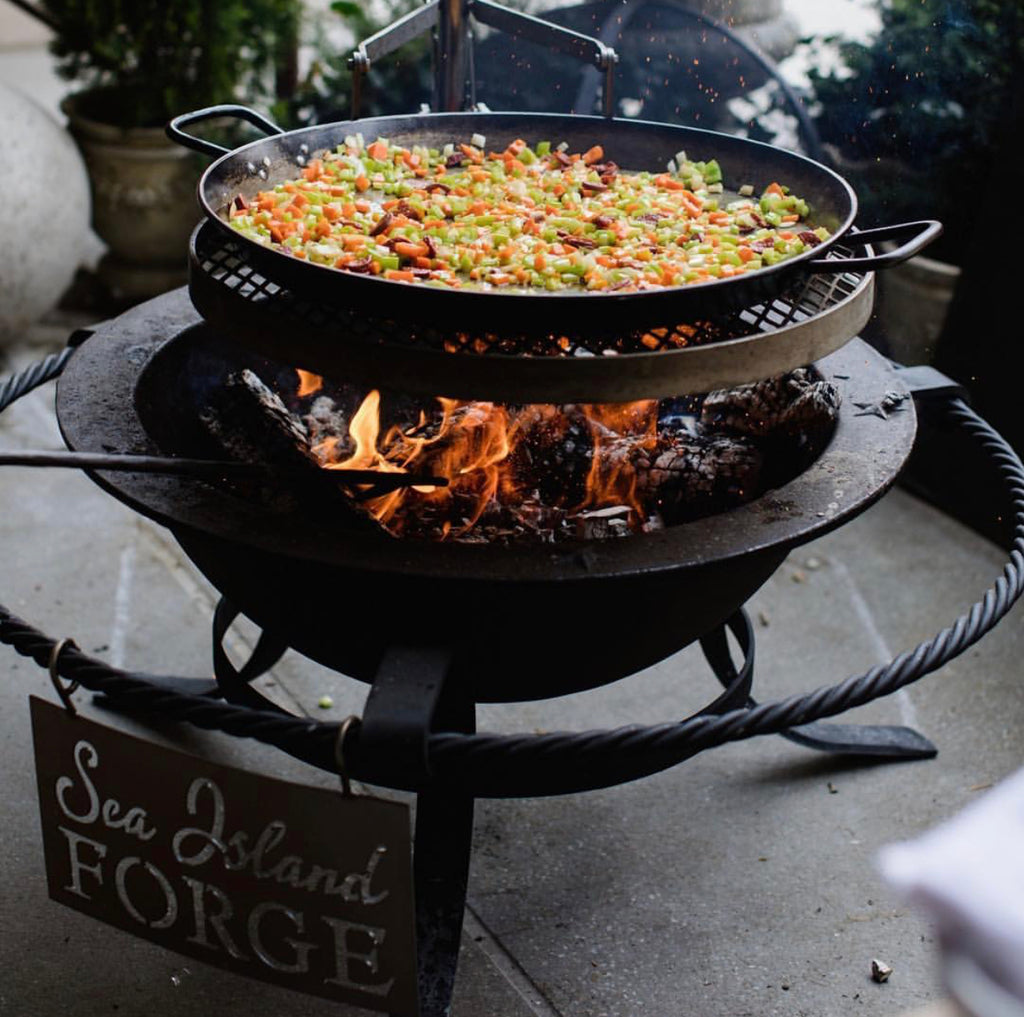 Chris Hasting's Rabbit and Crawfish Paella with Spring Vegetables