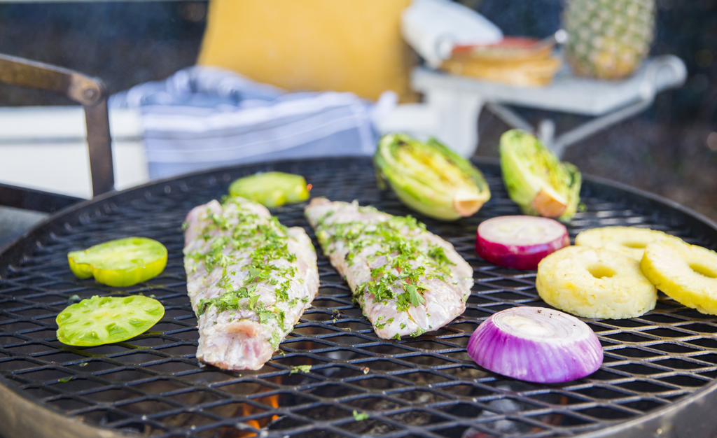 Cory Bahr's Grilled Fish with Green Tomato Salsa Verde