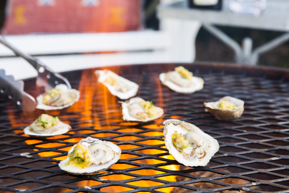 Cory Bahr's Grilled Oysters with Calabrian Chili Butter