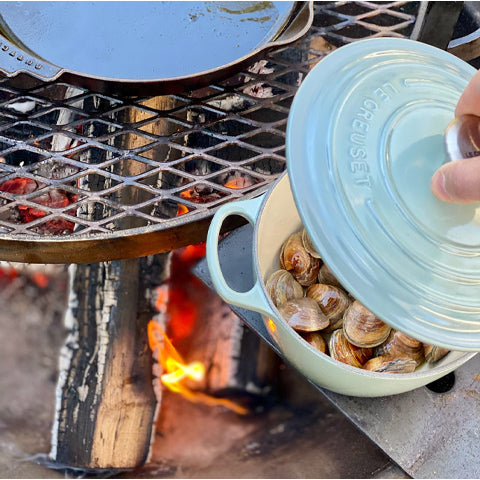 Clams over open fire