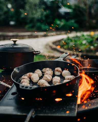 Smithey Skillet Scallops Sea Island Forge Kettle