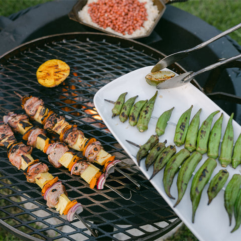 skewers on the Kettle