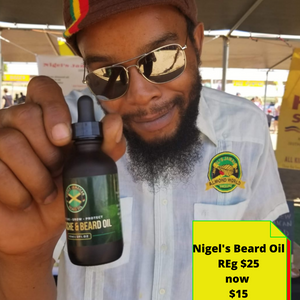 Nigels Jamaican mustache and beard oil