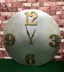 Retro Industrial Metal Clock