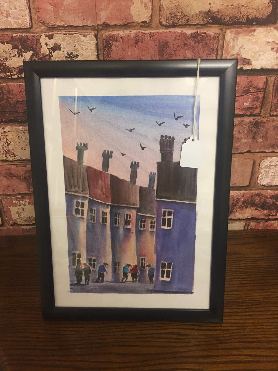 Houses Framed Painting