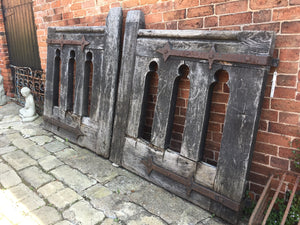 Pair Of Large Solid Oak Gates