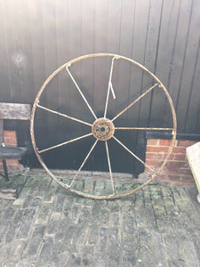 Large Rustic Wheel Feature