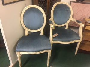 Regency Style Boudoir Chair & Matching Side Chair