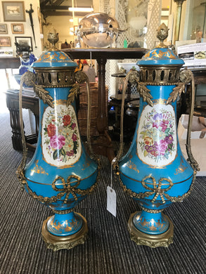 Pair of Sevres Style Vases