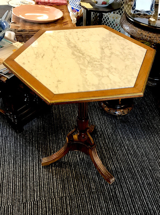 Marble Top Tripod Table