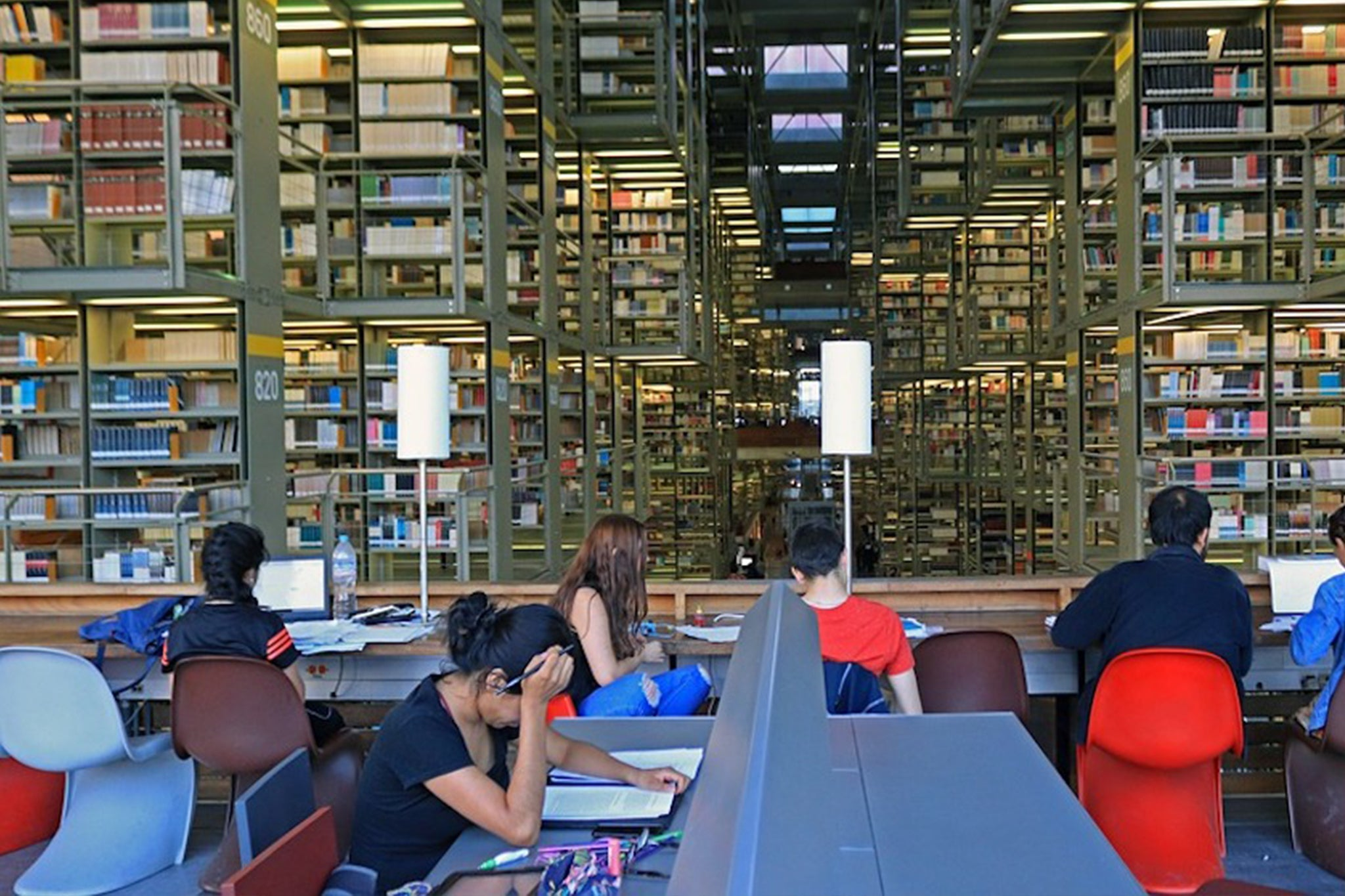 architecture photos library design Biblioteca Vasconcelos Mexico City