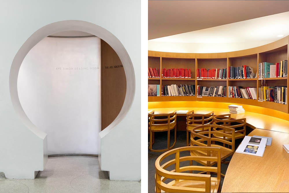 architecture library design Guggenheim Reading Room photo by Raquel Cayre